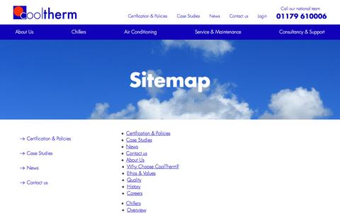 Screenshot of Site Map Page cooltherm.co.uk - Sitemap   Cool Therm - captured July 22, 2018
