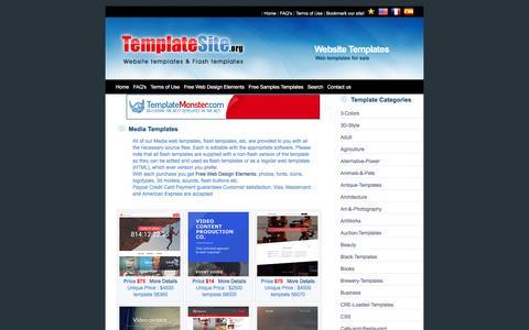 Screenshot of Press Page templatesite.org - Media Web Templates - captured Jan. 20, 2016