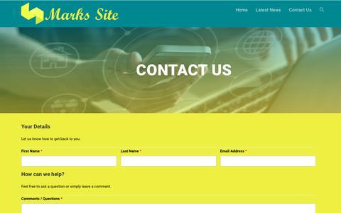 Screenshot of Contact Page bizmarkstrat.com - Contact Us - captured Oct. 17, 2018