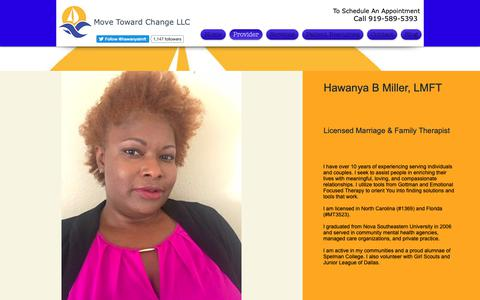 Screenshot of About Page movetowardchange.com - About Us | Move Toward Change LLC - captured Oct. 20, 2018