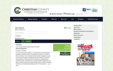 Screenshot of Jobs Page christiancountychamber.com - Job Search - Christian County Chamber of Commerce, KY - captured Nov. 12, 2016