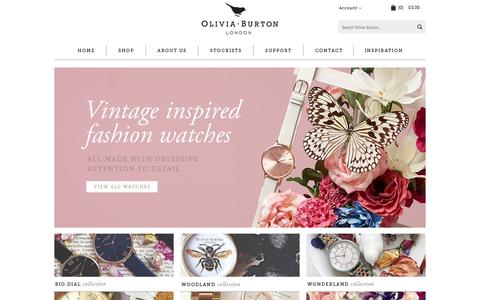 Screenshot of Home Page oliviaburton.com - Olivia Burton Watches: Unique ladies watches in a range of dial sizes and designs. - captured Aug. 12, 2015