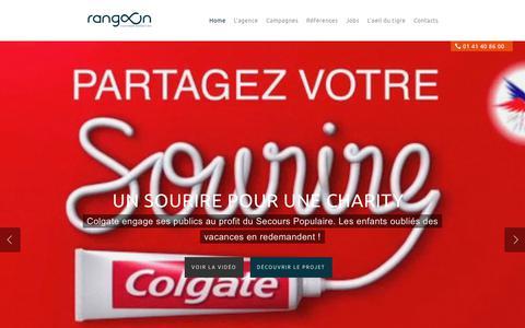 Screenshot of Home Page rangoon.fr - Rangoon|Agence marketing et communication - captured Sept. 24, 2018