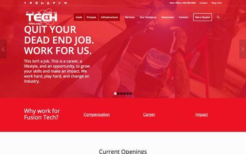 Screenshot of Jobs Page ftiinc.org - Careers | Fusion Tech Integrated, Inc. - captured Nov. 14, 2018
