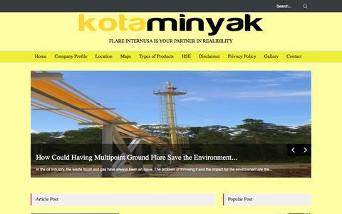 Screenshot of Home Page kotaminyak.com - KOTAMINYAK - captured June 9, 2017