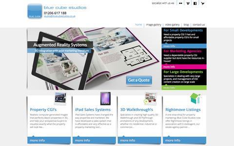 Screenshot of Home Page bluecubestudios.co.uk - Need a Property CGI or 3D Walkthrough - Blue Cube Studios - captured Oct. 5, 2014