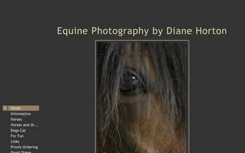 Screenshot of Home Page dianehortonphoto.com - Equine Photography by Diane Horton - captured Oct. 5, 2014