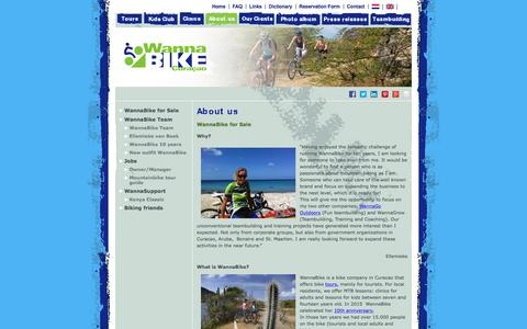 Screenshot of About Page wannabike.com - WannaBike is a biking company on Curacao and is  for sale | Wannabike - captured Dec. 3, 2016
