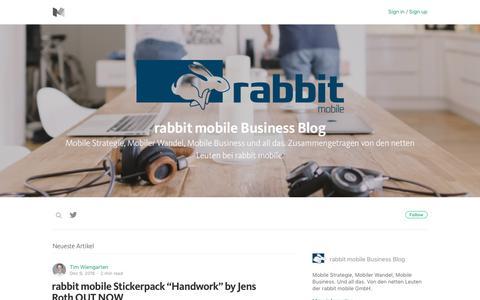 Screenshot of Blog medium.com - rabbit mobile Business Blog – Medium - captured May 6, 2017