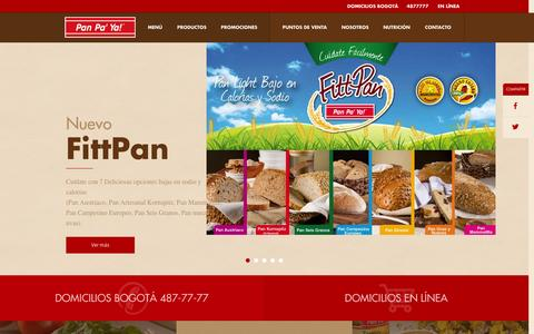 Screenshot of Home Page panpaya.com.co - Panpa'ya   PAN PA'YA - Panadería y Bakery Café - captured Oct. 11, 2015