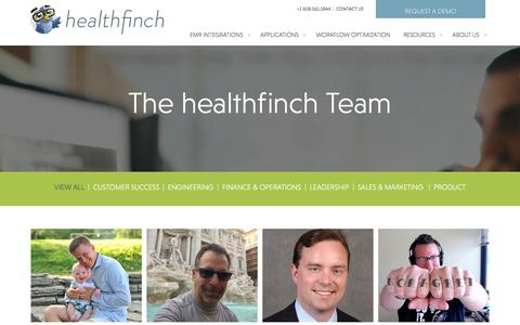 Screenshot of Team Page healthfinch.com - Our Team | healthfinch, Inc. - captured July 13, 2018