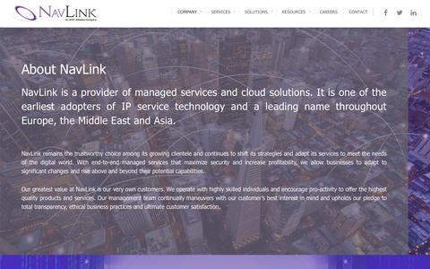 Screenshot of About Page Team Page navlink.com - Managed Services and Cloud Provider | NavLink - captured Oct. 27, 2017