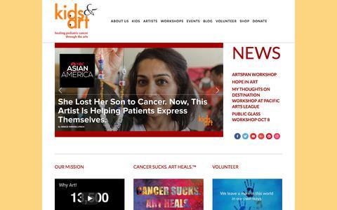 Screenshot of Home Page kidsandart.org - Kids and Art Foundation - captured Oct. 17, 2017