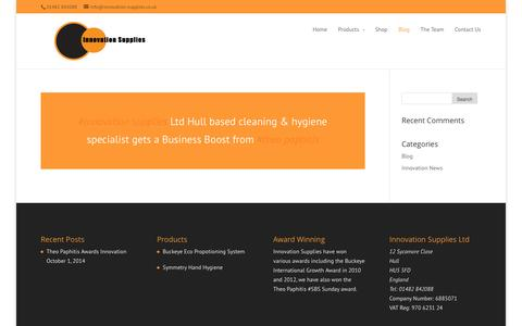 Screenshot of Blog innovation-supplies.co.uk - Blog on Innovation Supplies - captured Nov. 3, 2014