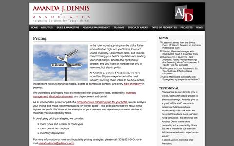 Screenshot of Pricing Page ajdassoc.com - Consultant Hotels | Hotel Consulting | Hotels Management & Marketing Consultants - captured Oct. 4, 2014