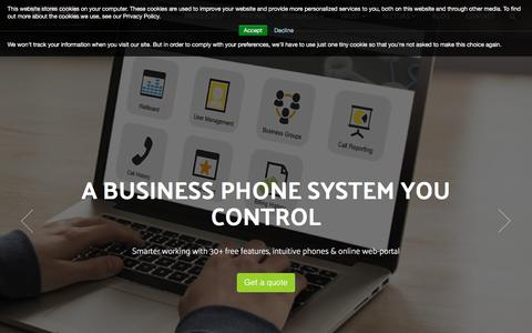 Screenshot of Home Page vtsl.net - Hosted VoIP Solutions, Business Phone Systems - UK & Ireland - captured Oct. 22, 2017