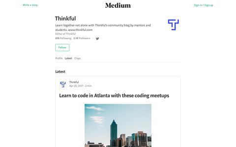 Latest stories written by Thinkful – Medium