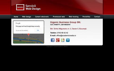 Screenshot of Contact Page servicii-web-design.ro - Contact - captured Oct. 2, 2018
