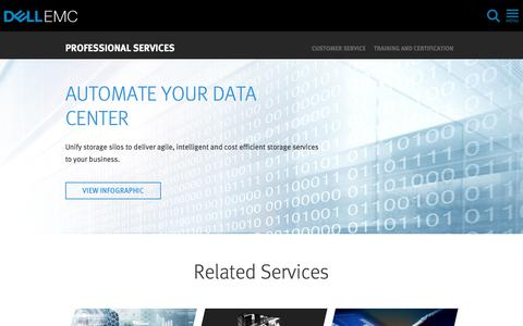 Screenshot of Services Page dellemc.com - Software Defined Storage Services | Dell EMC US - captured Feb. 9, 2018