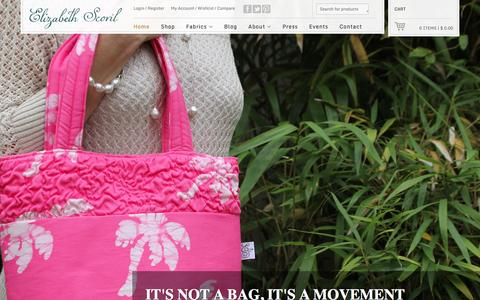 Screenshot of Home Page elizabethscovil.com - Elizabeth Scovil - Handbags and Accessories - captured Jan. 24, 2016