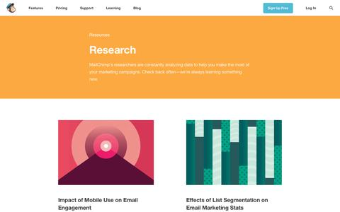 Research Archives - Learning Resources - MailChimp