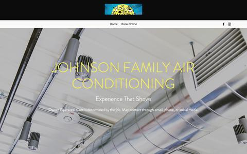 Screenshot of Home Page johnsonfamilyac.com - Air conditioning | United States | Johnson Family Air Conditioning Inc - captured Oct. 14, 2018