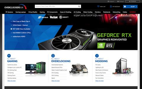 Screenshot of Home Page overclockers.co.uk - PC Systems & Components | Overclockers UK - captured Sept. 21, 2018