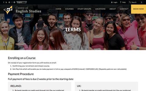 Screenshot of Terms Page ces-schools.com - Terms - captured Nov. 1, 2016