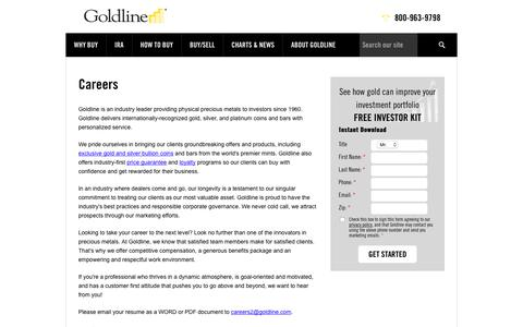Careers | Goldline Buy Gold and Silver at Goldline