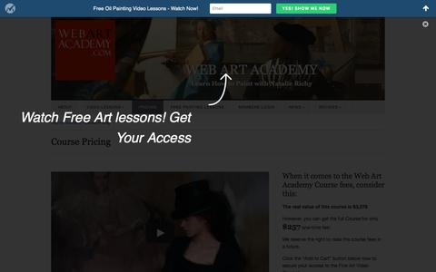 Screenshot of Pricing Page webartacademy.com - Course Pricing - Web Art Academy | Web Art Academy - captured Jan. 19, 2016