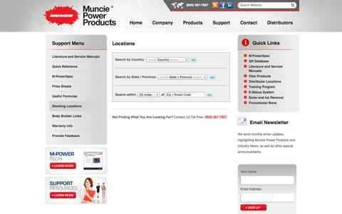 Screenshot of Locations Page munciepower.com - Locations - captured Oct. 7, 2014
