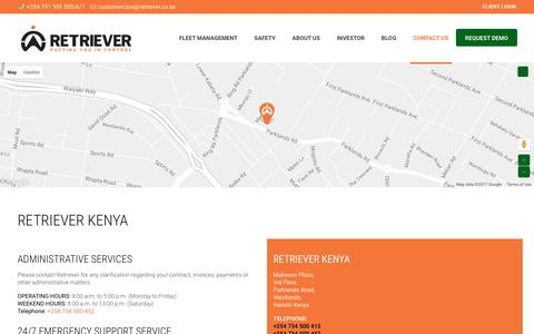 Screenshot of Contact Page retriever.co.ke - Contact Us - Retriever - captured Oct. 22, 2017