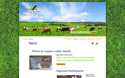 Screenshot of Press Page haprodia.de - News | Haprodia GmbH - captured Oct. 1, 2014