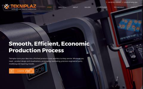 Screenshot of Home Page tekniplaz.com - Toolmaking, Product Development & Precision Engineering | Tekniplaz Ltd - captured Nov. 6, 2017