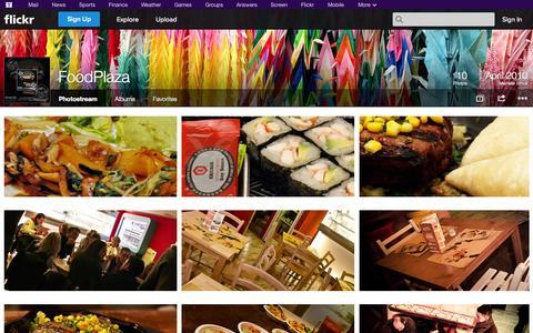 Screenshot of Flickr Page flickr.com - Flickr: FoodPlaza's Photostream - captured Oct. 23, 2014