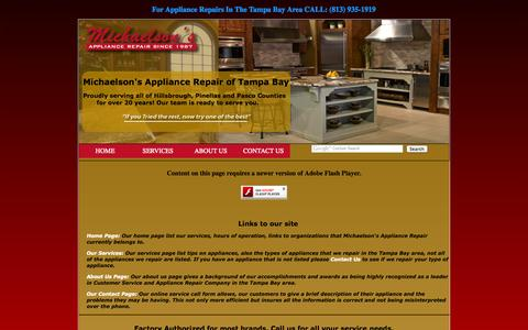 Screenshot of Site Map Page michaelsons.us - Michaelson's Appliance Repair - Sitemap - captured Oct. 27, 2014