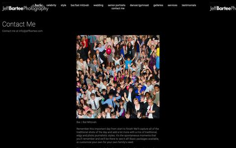Screenshot of Services Page jeffbartee.com - Contact Me - Jeff Bartee - captured Oct. 22, 2018