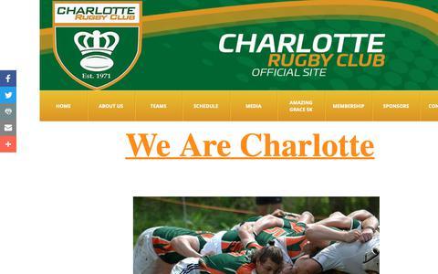 Screenshot of Press Page charlotterugby.com - Media - captured Sept. 27, 2018
