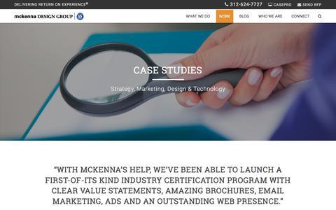Screenshot of Case Studies Page wmdesigngroup.com - Case Studies - McKenna Design Group - captured Nov. 6, 2017
