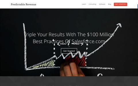 Screenshot of Home Page predictablerevenue.com - Predictable Revenue Book | How to Generate Scalable Leads - captured Oct. 1, 2015