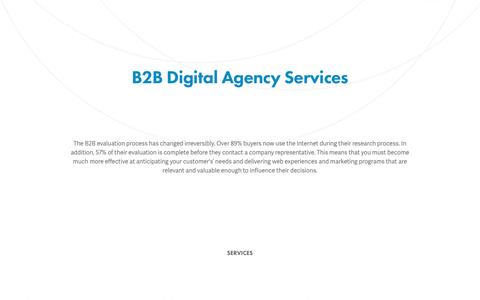 Screenshot of Services Page agencyhype.com - B2B Digital Agency Services | HYPE - captured May 5, 2017