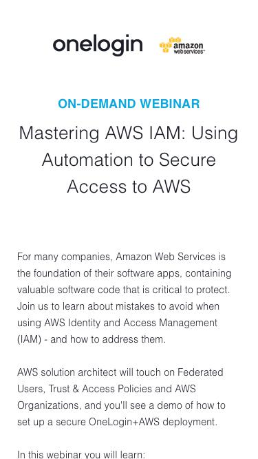 Mastering AWS IAM: Using Customer Insights and Automation to Secure Access to AWS