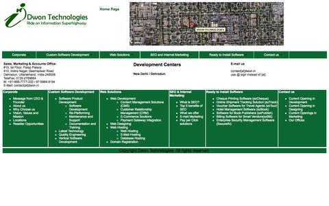 Screenshot of Locations Page dwon.in - custom software development, internet marketing, web designing company, New Delhi, India - captured Oct. 5, 2014