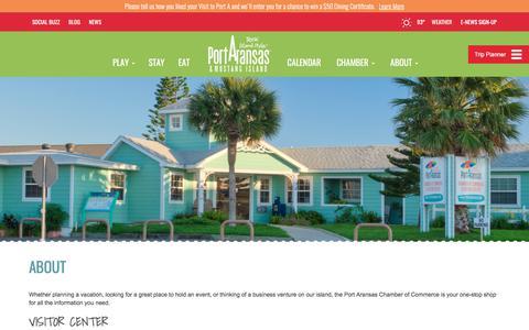 Screenshot of About Page portaransas.org - About    Port Aransas, TX & Mustang Island - captured Aug. 7, 2017