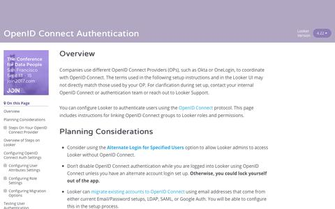 OpenID Connect Authentication | Looker
