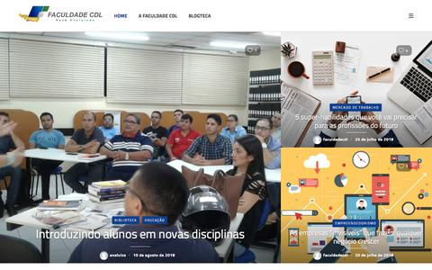 Screenshot of Blog faculdadecdl.edu.br - Faculdade CDL - Blog da Faculdade CDL - captured Aug. 12, 2018