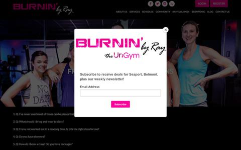 Screenshot of FAQ Page burninbyray.com - Frequently Asked Questions | BURNIN' by Ray | Belmont & Boston - captured July 8, 2018
