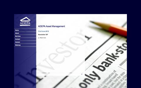 Screenshot of Press Page adepa.com - ADEPA Asset Management - captured Oct. 4, 2014