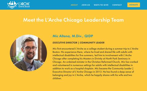 Screenshot of Team Page larchechicago.org - Meet Our Team — L'Arche Chicago - captured July 14, 2018