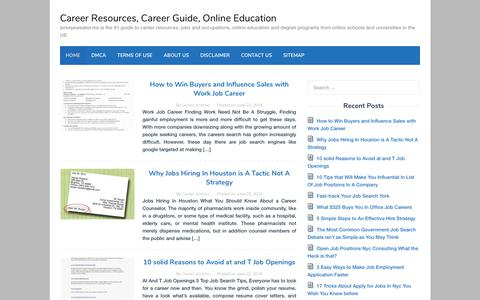 Screenshot of Home Page jerseysweater.me - Career Resources, Career Guide, Online Education - captured Nov. 9, 2018